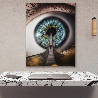 All Seeing Canvas home decor