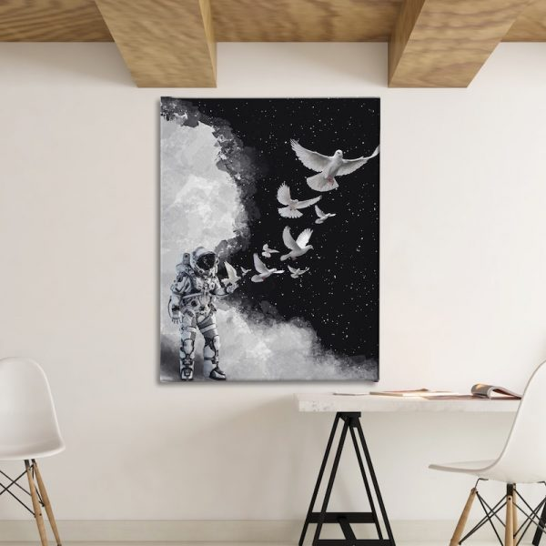 Astro Dove Space Canvas artwork