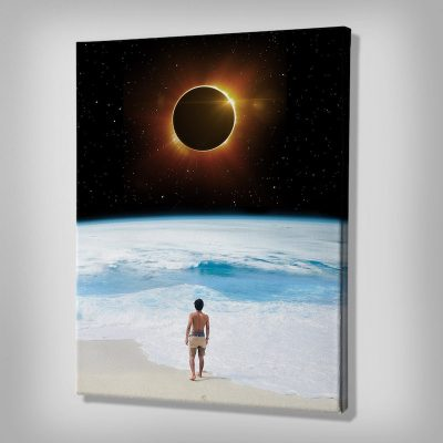 Beach Eclipse Canvas art