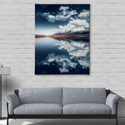 Ark Rebel Bolivian Reflection Mountain Canvas Art
