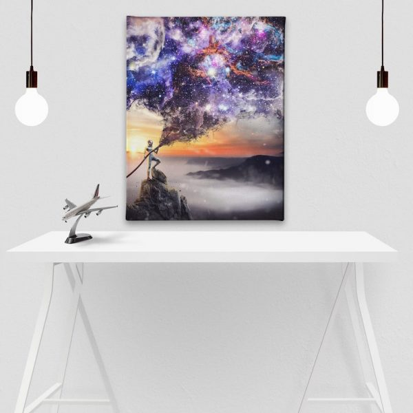 Extinguish Reality Space Age Canvas Art