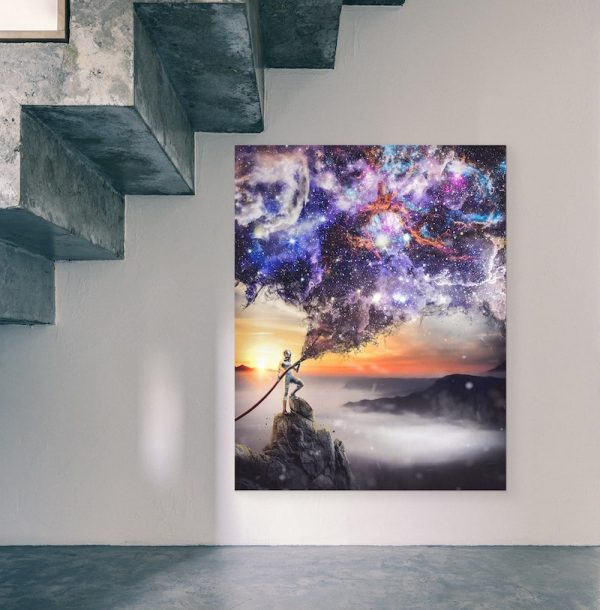 Extinguish Reality Futuristic Canvas Art
