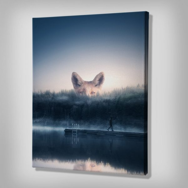 Foxy Canvas Wall Decor