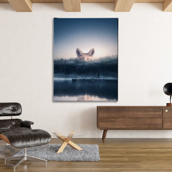 Foxy wall art home decor