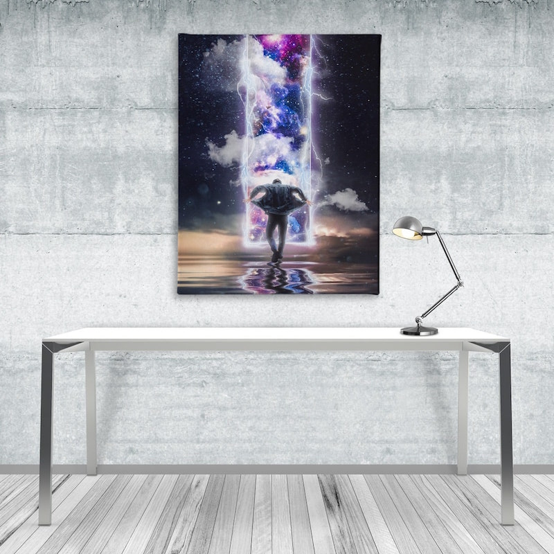 I'm out photo manipulation canvas art