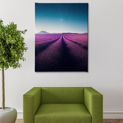 Ark Rebel Lavender Nights Bedroom Canvas Wall Art