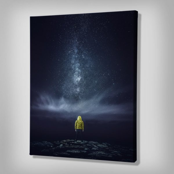 Ark Rebel Meeting With The Milky Astrophotography Canvas Art