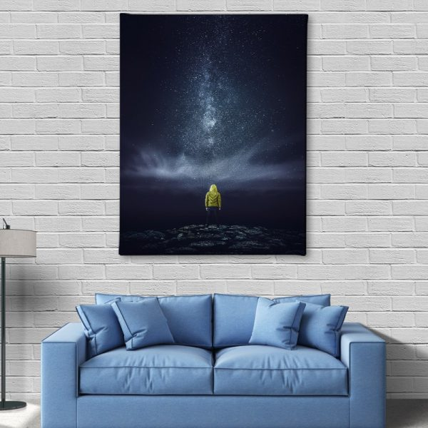 Ark Rebel Meeting With The Milky Astrophotography Canvas Wall Decor