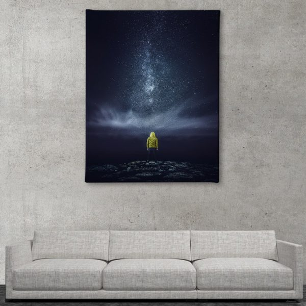 Ark Rebel Meeting With The Milky Astrophotography Canvas Home Art