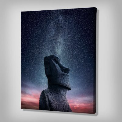 Ark Rebel Moai Wall Canvas