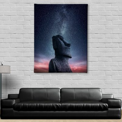 Ark Rebel Moai Big Wall Canvas