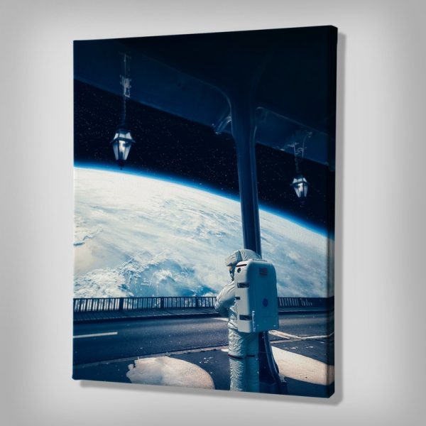 Next Stop Earth Space Canvas art