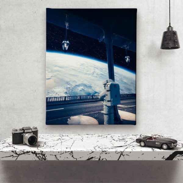 Next Stop Earth Canvas wall decor