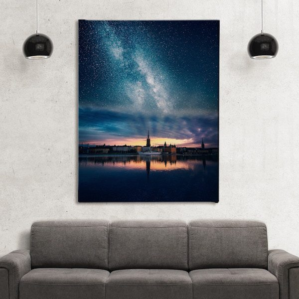 Rays of Golden Canvas art