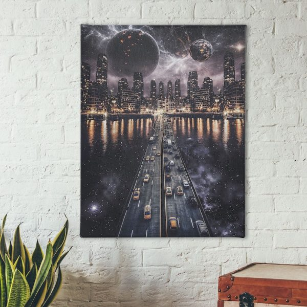 Skyline City scape canvas art