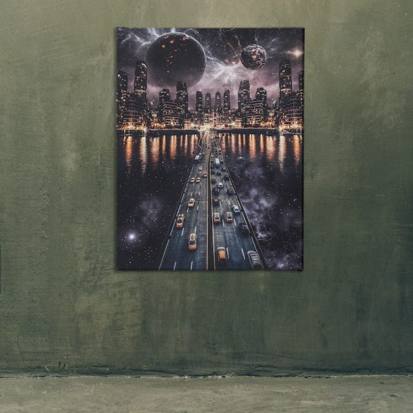 Skyline Canvas space art