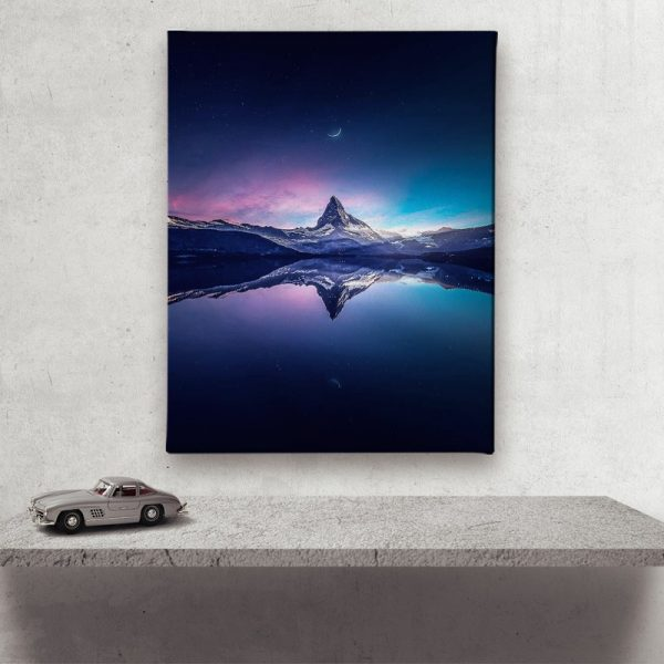 Ark Rebel Matterhorn landscape Canvas Art