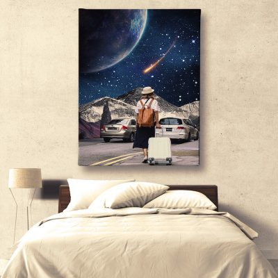 Space Traveler Canvas home decor