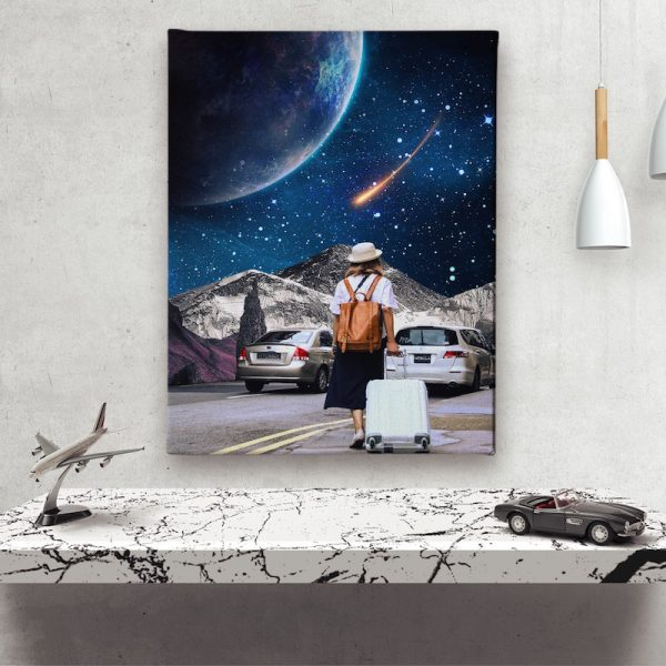Space Traveler Canvas wall decoration