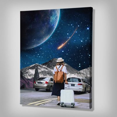 Ark Rebel Space Traveler Wall Canvas