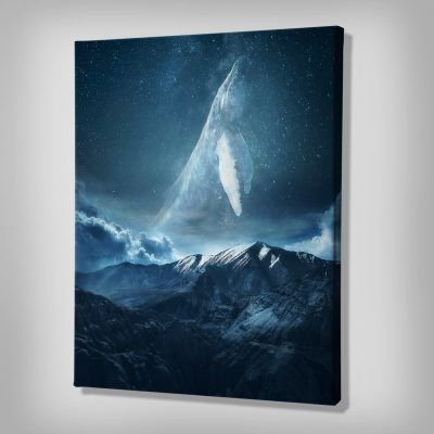 Space Whale Canvas Artwork