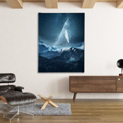 Space Whale Canvas wall art