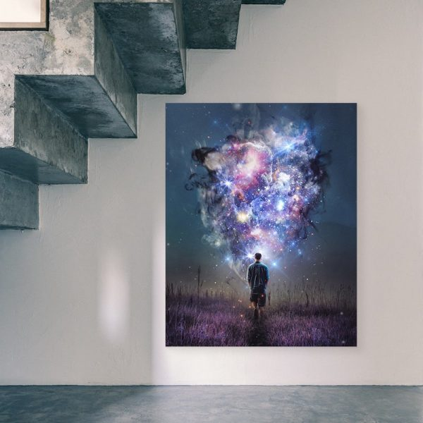 Teleportal Sci-fi Canvas Decor