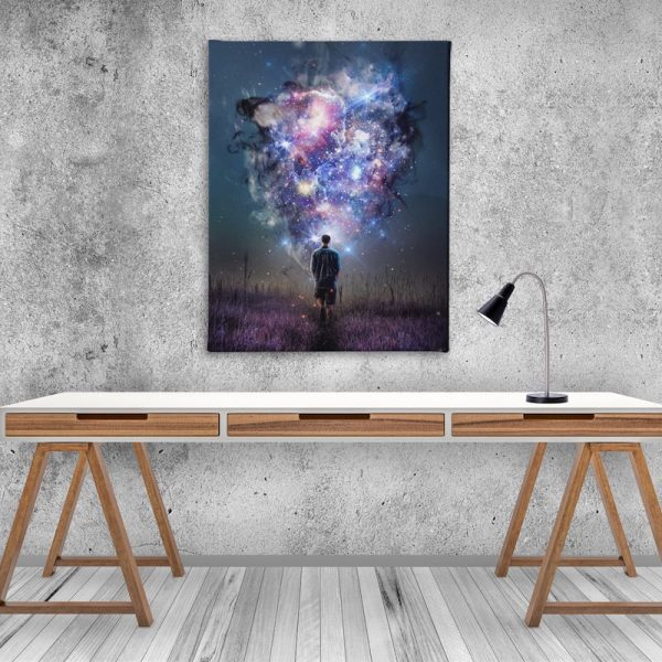 Teleportal Sci-fi Canvas Artwork