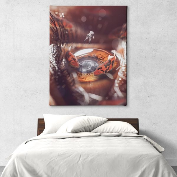 The Koi Pond Canvas Artwork