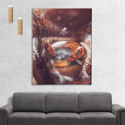 The Koi Pond Home Canvas Decor