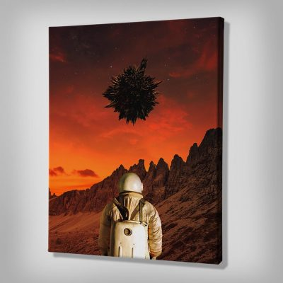 Ark Rebel We're Not Alone Large Wall Art on Canvas