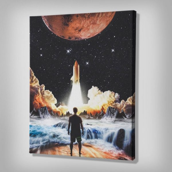 Lift Off Space Canvas Artwork