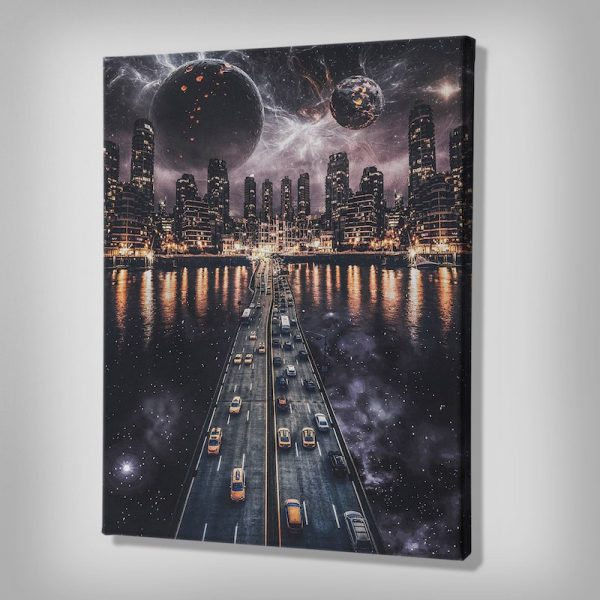 Skyline Futuristic Canvas art
