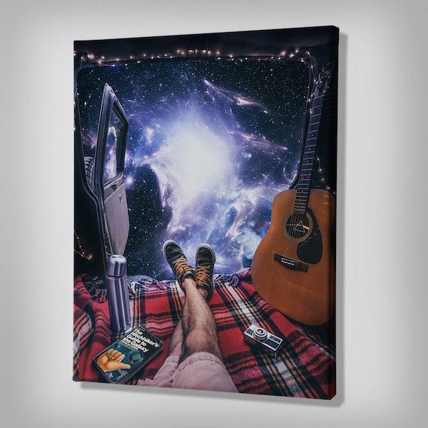 Space Camping Canvas wall painting