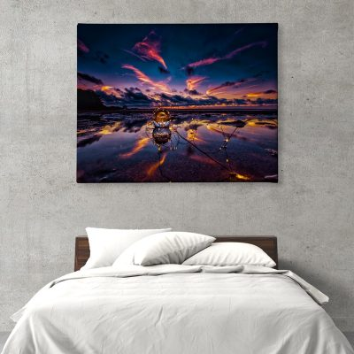 Ark Rebel Crystal Sky Sunset Canvas Wall Decor