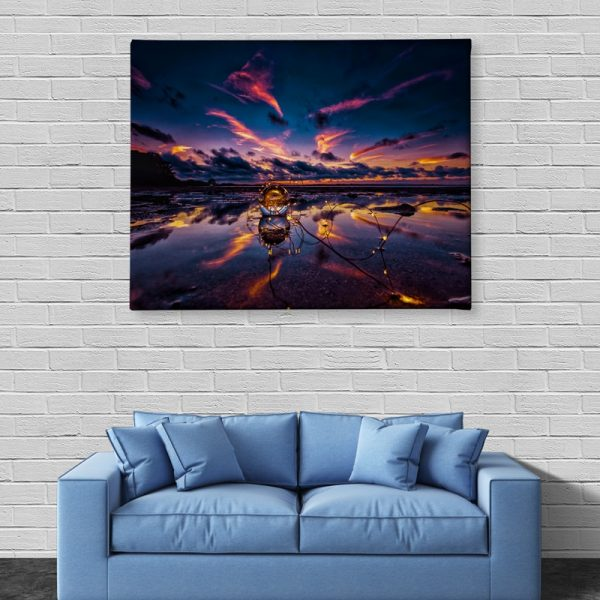 Ark Rebel Crystal Sky Large Canvas Wall Art