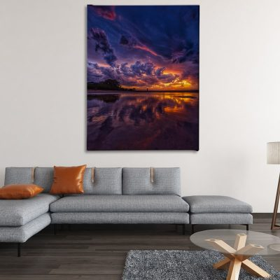 Ark Rebel Fiery Sky Bathroom Wall Art
