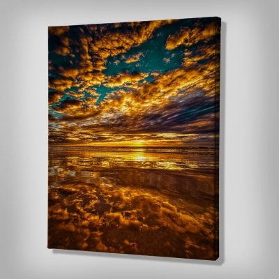 Ark Rebel Fire On The Water Large Sunset Canvas Decor