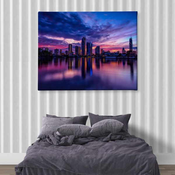 Ark Rebel Paradise Town Sunrise Canvas Home Decor