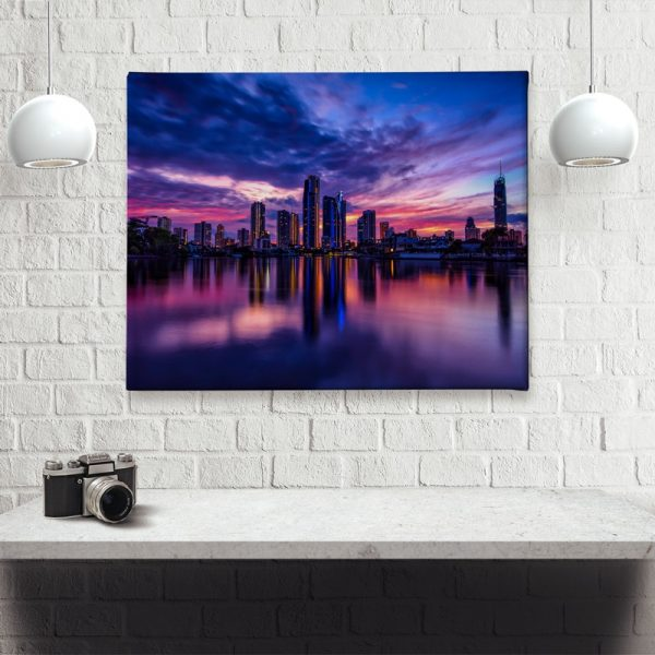 Ark Rebel Paradise Town Sunrise Office Canvas Wall Art