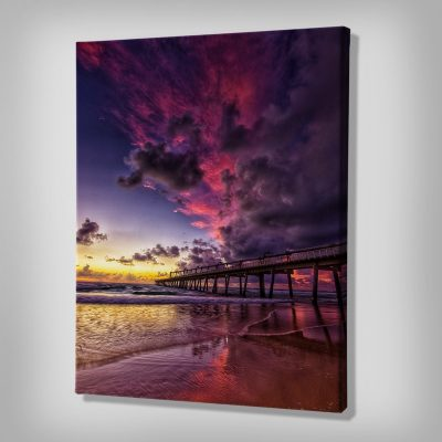 Ark Rebel Pier Fire Canvas Art Photography