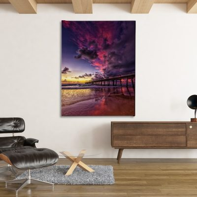 Ark Rebel Pier Fire Large Canvas Art Photography