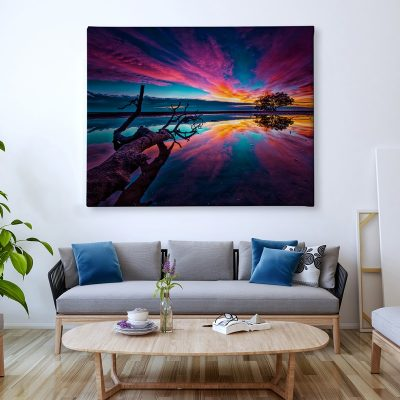 Ark Rebel Pink Sunset Florida Home Canvas Wall Artwork