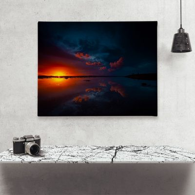 Ark Rebel The Night's Glow Sunset Large Canvas Photography