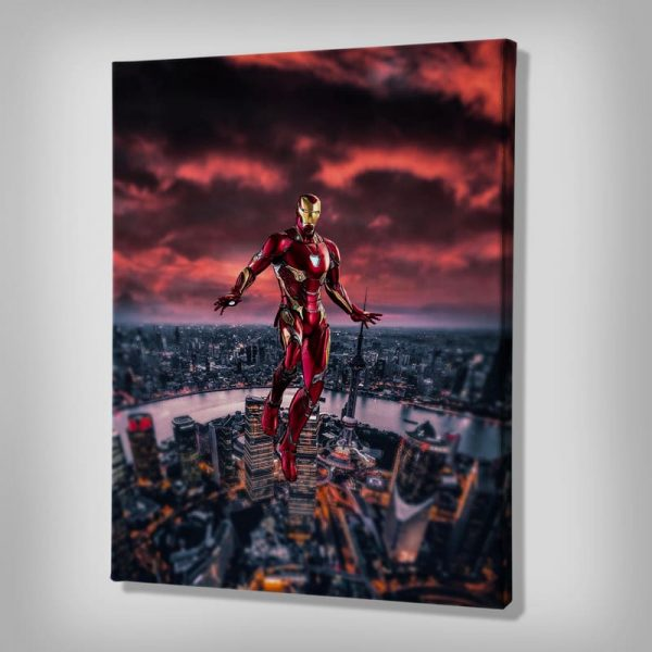 Ark Rebel Love You 3000 Iron Man Canvas Art