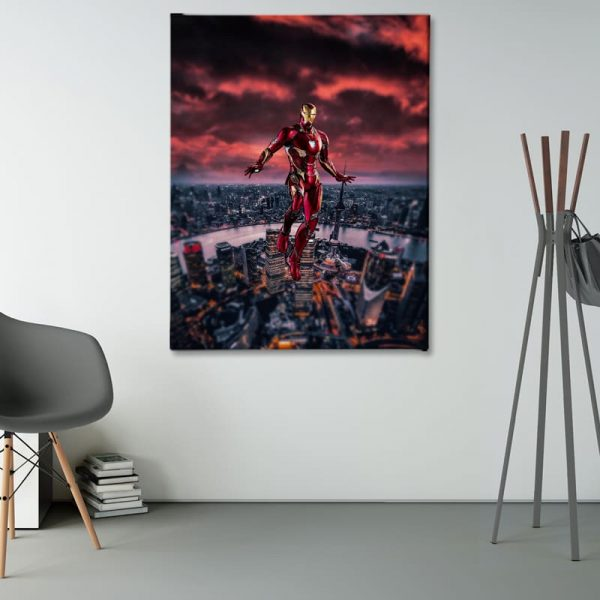 Ark Rebel Love You 3000 Iron Man Big Canvas Wall Decor