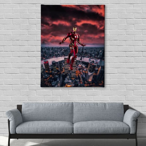 Ark Rebel Love You 3000 Iron Man Big Canvas Wall Art