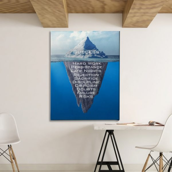 Ark Rebel Success Iceberg Office Canvas Wall Decor