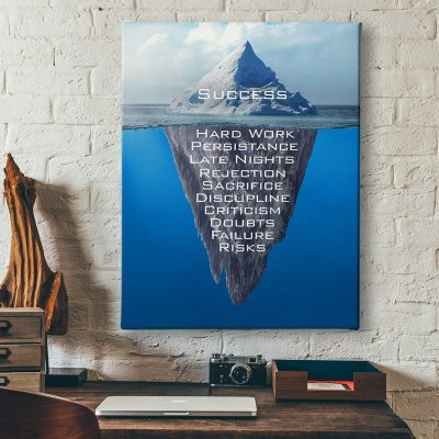 Ark Rebel Success Iceberg Office Canvas Art