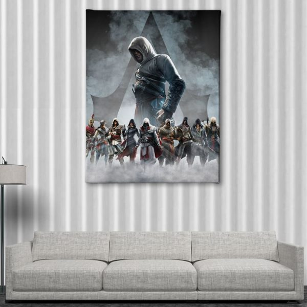 Ark Rebel The Creed Assassin's Creed Big Canvas Man Cave Wall Art
